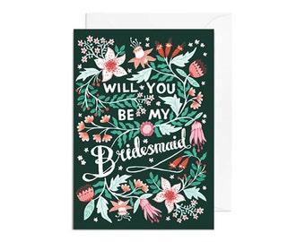 Greetings Card - Will You be my Bridesmaid, Wedding Greetings Card