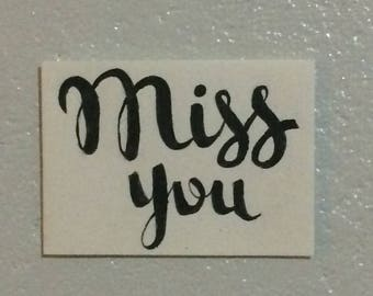 """Greeting Card - """"Miss you"""""""
