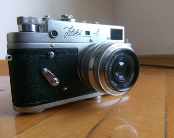 Vintage USSR Zorki-4- Soviet Rangefinder Camera With INDUSTAR-50 Lens from 1965