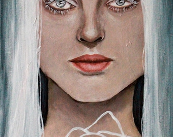 Snow White Fairytale/Fantasy Portrait - Acrylic Painting