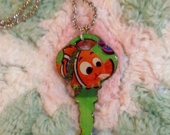 Finding Nemo Altered Art Key Necklace