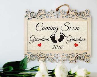 Pregnancy reveal gift, Gender reveal, Pregnancy announcement, Pregnancy announce, Baby announcement, Pregnancy reveal to grandparents