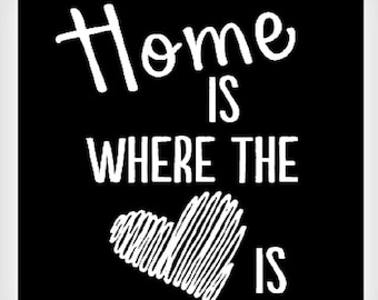 Home is Where The Heart Is glossy photo print quote 8x10 picture