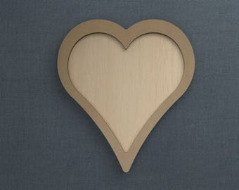 Frame Kit, Heart, Wood Frame, Picture Frame, DIY