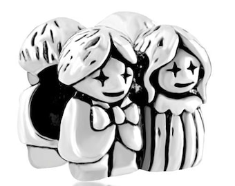Pugster Bead - Wedding - Bride And Groom - Bridegroom - Large Hole - Fits European