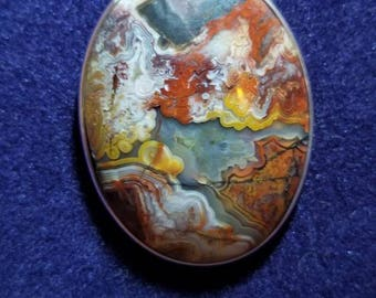 Montana Agate Pendant Oval Cabachon Necklace