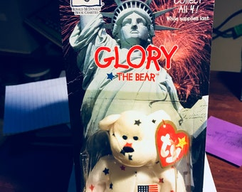 "TY Beanie Babies w/ Errors; ""Glory"" the Bear"