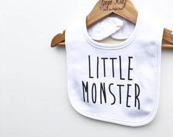Little Monster Baby Bib, Monster Bib, Funny Baby Bibs, Unique Funny Baby Gifts, Baby Shower Bib, Halloween Baby Bib, Halloween Baby Clothes