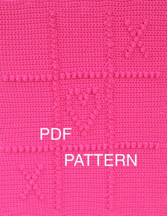 Crochet Pattern - Tic Tac Love Blanket - Crochet Baby Security Blanket  - Baby Snuggle Blanket  - Car Seat or Stroller Blanket