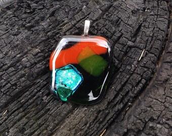 SPRING SALE  Dichroic Glass Pendant