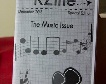 KZine, The Music Issue (Special Issue), Zine, Arts Zine, Music Zine