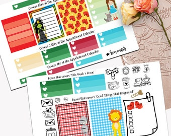 Wizard of Oz Theme Planner Weekly Sticker SMALL Kit, Passion Planner Sticker, Weekly Set, Sticker, Printed, Cut, No place like home, Dorothy