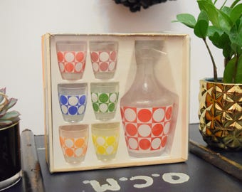 French Liqueur Glasses and Decanter | Luminarc | New in Box