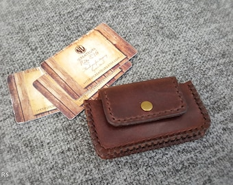 Leather Business Card Holder, Personalized Leather Business Card Case, Leather Card Case, Leather Card Wallet