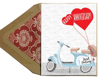 Anniversary Funny Just Dating Card - Love Card, Funny, Date-iversary, Anniversary