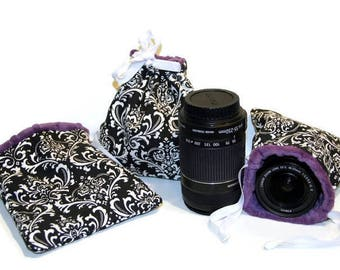 Custom Small Size dSLR Camera Lens Bag GoPro Accessories Bag- Point and Shoot Camera Pouch