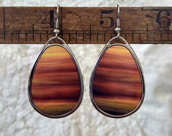 Tundra Song, Teardrop Earrings, Fall Colours