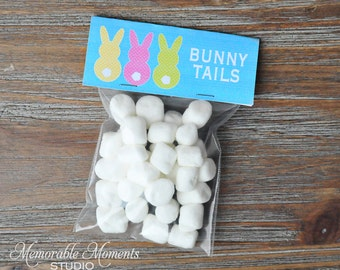 INSTANT DOWNLOAD - Printable Bunny Tails Bag Labels - Easter Holiday Collection - Happy Easter - Memorable Moments Studio