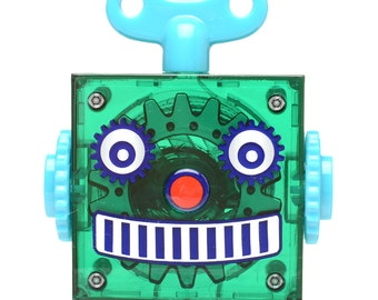 Green Retro Robot Tape Measure