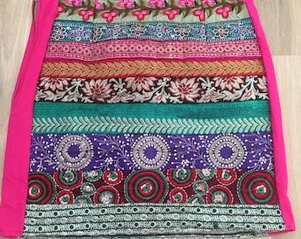 Upcycled skirt, bohemian clothing