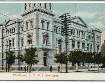 Post Office Charleston South Carolina 1908 postcard