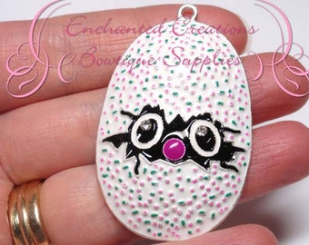 "2"" Multicolor Hatchimal Egg Inspired Charm, Chunky Pendant, Keychain, Bookmark, Zipper Pull, Chunky Jewelry, Purse Charm, Planner Charm"
