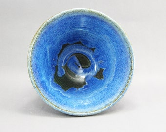 Pottery Bowl Rutile Blue Green to Black CHUNGTB63