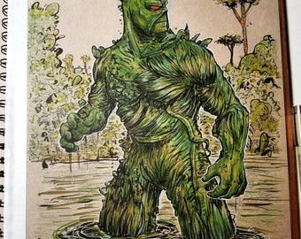 Swamp Thing Original Art