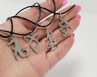 Shadowhunters Rune Necklace, Parabatai Rune, Angelic Rune, Fearless Rune, Love Rune, The Mortal Instruments, Infernal Devices