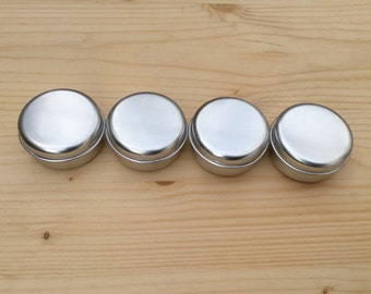 Round Metal Tins, Silver Color 15ml Tin Bbox, Lip Balm Box, DIY Container (A Set Of 12 Boxes)