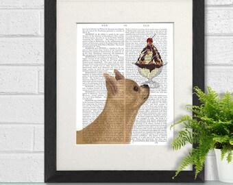 Chihuahua painting -  Chihuahua fawn Ice cream dog - Dog poster print chihuahua art print Dog decor chihuahua lover chihuahua wall art