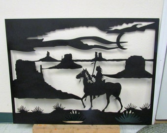 Indian, Metal Art, Southwestern, Native American, Handmade