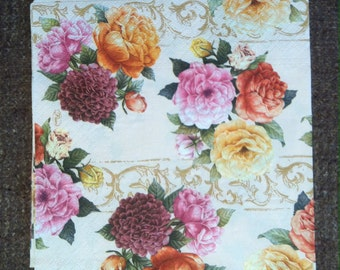 PN-44. Peonies , * Price is for one napkin *, Paper Napkins , napkins for decoupage , Decoupage