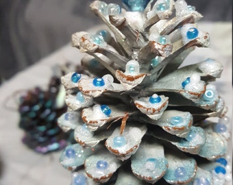 Pretty Pinecone decorated ornaments
