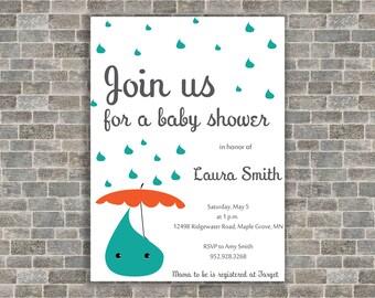 Kawaii Baby Shower Invitation- Rainy Invitation