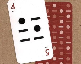 Linear Alphabet Card - 4/5