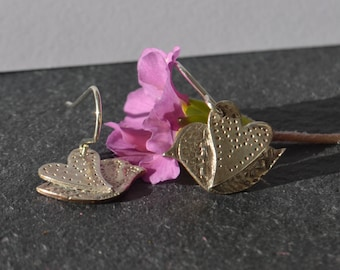 Handmade Fine  and sterling Silver bird Dangle Earrings, bird earrings, wedding earrings, bird earrings, silver earrings