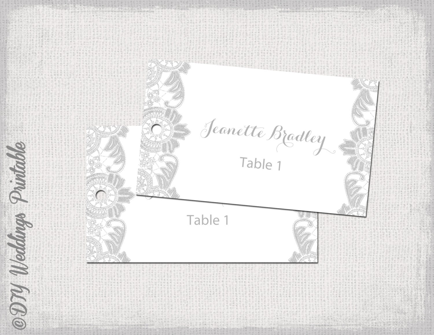 Favor tag template silver gray antique lace diy zoom negle Choice Image