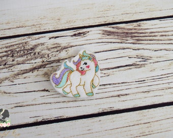 Handcrafted Gorgeous White Fantasy Unicorn Feltie Clip -Small Unicorn Accessory - Unicorn Birthday Bow - Unicorn Christmas Stocking Stuffer