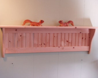 Wood Wall Shelf Display 42 Inch Unfished Pine
