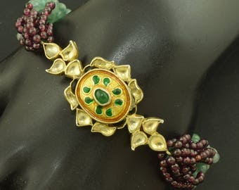 Amethyst Jade Vintage Bracelet ~ Lot 1753