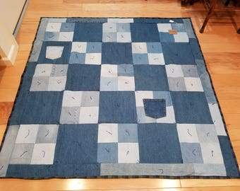 Denim and Flannel Quilt