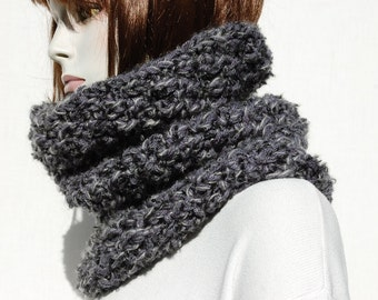 Knitted Snood-Oversized Scarves-Warm Chunky Snood-Oversized Scarf Knit-Knitted Cowl-Circle Chunky Scarf-Knit Cowl-Loop Scarf-Circle Scarf