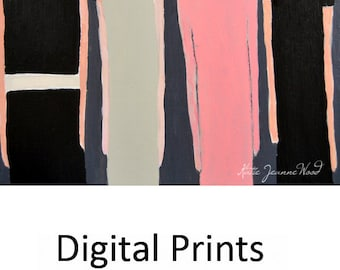 Women Figure Painting Print. Whimsical Ladies Digital Print. Table for Four Art Print Gift For Her Apartment. Living Room Wall Decor