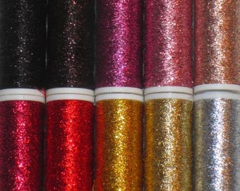LUXETA metallized embroidery thread, wind of 60m,  pack of 10 winds N. 1