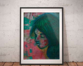 Art Print · Art Giclée Print · Wall Art · Pastels Art · Acrylics Art · Abstract Art · Figurative Art ·