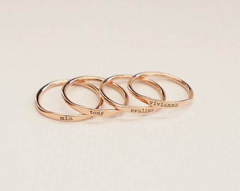 custom ring etsy delicate market rings gift stacking skinny bridesmaids name il