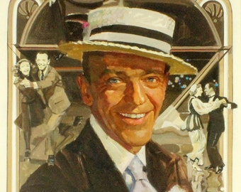Vintage Fred Astaire Illustration, circa 1940s/1950s - Giclee Print