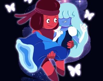 Steven Universe Ruby x Sapphire Print