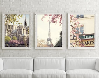 Paris photography, Paris wall art, gifts for her, gift ideas, Paris print, cherry blossom art, Eiffel tower print, gifts for women, photo
